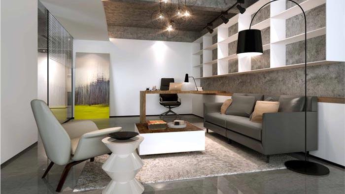 300平方中小型办公室装修设计案例