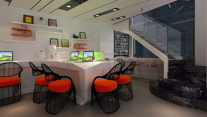 180平方小型办公室装修设计案例