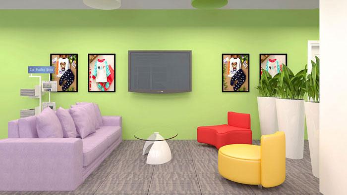 230平方儿童童装公司办公室装修设计案例