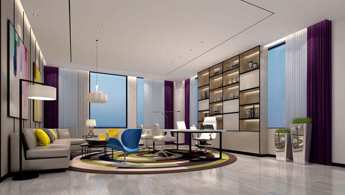 600平方电子商务办公室装修设计案例