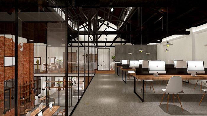630平方中型创意办公室装修设计案例
