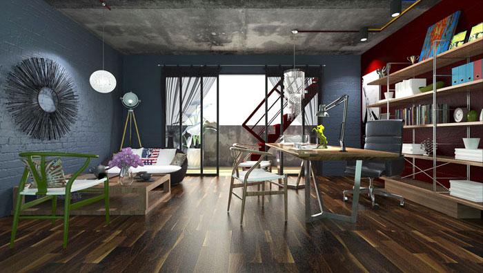 210平方小型创意办公室装修设计案例