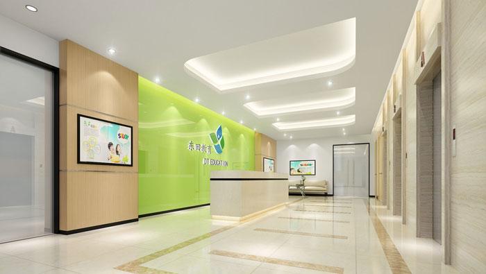 880平方教育集团办公室装修设计案例
