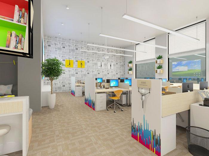 500平方现代简约风格办公室办公区域装修设计案例效果图