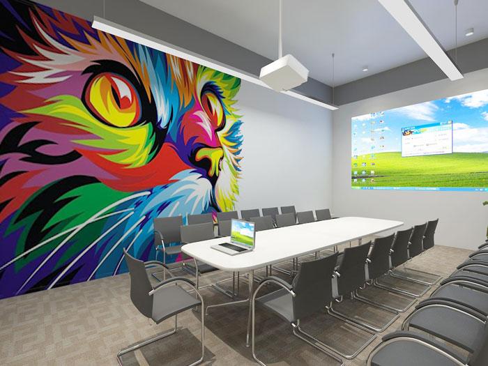 500平方现代简约风格办公室会议室装修设计案例效果图
