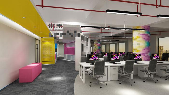 1000平方时尚创意办公室装修设计案例