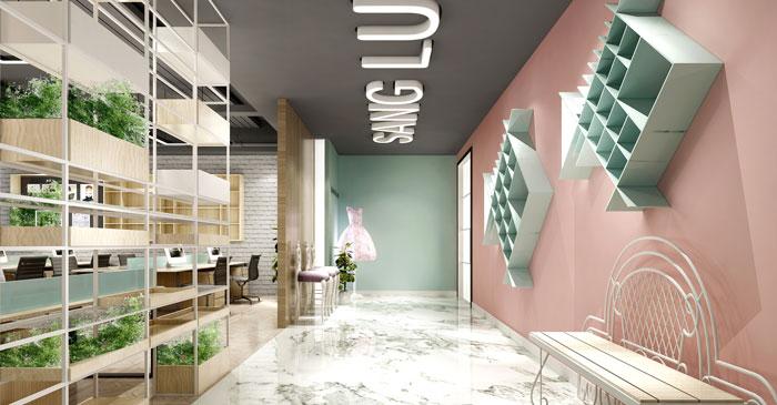 450平方现代简约风格办公室装修设计案例