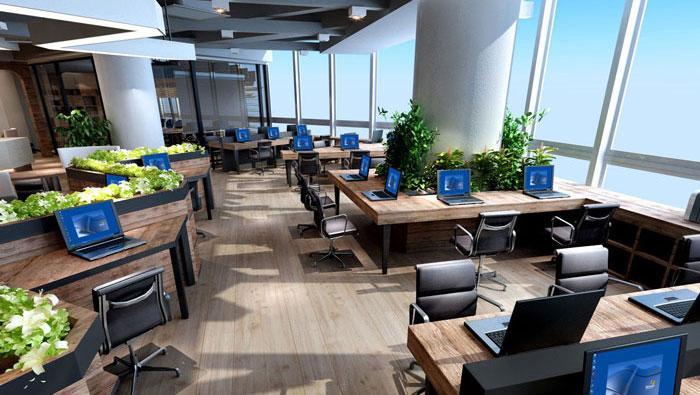 910平方中型创意办公室装修设计案例