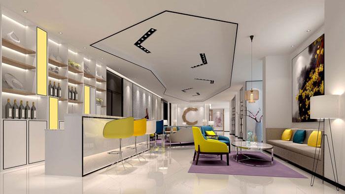 600平方现代简约风格办公室装修设计案例