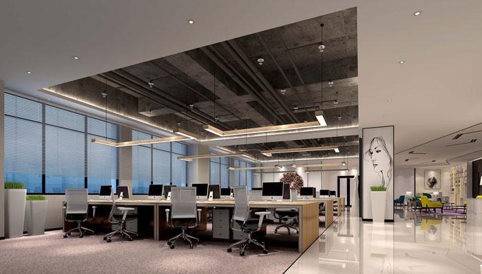 600平方现代简约风格办公室办公区域装修设计案例效果图