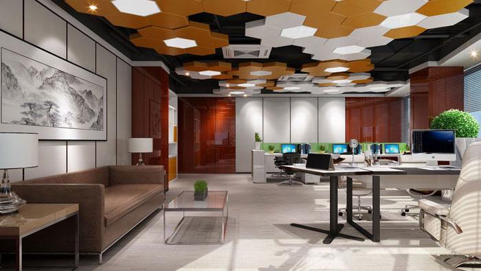 750平方中型办公室装修设计案例