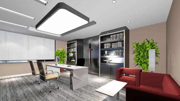 580平方中型办公室装修设计案例