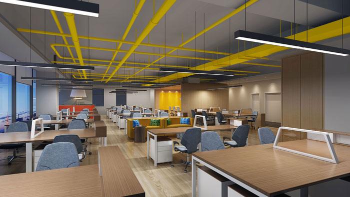 800平方广告公司办公室装修设计案例