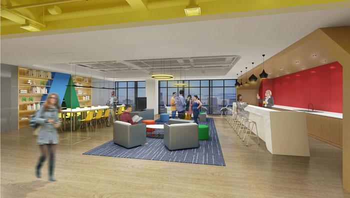 710平方中型创意办公室装修设计案例