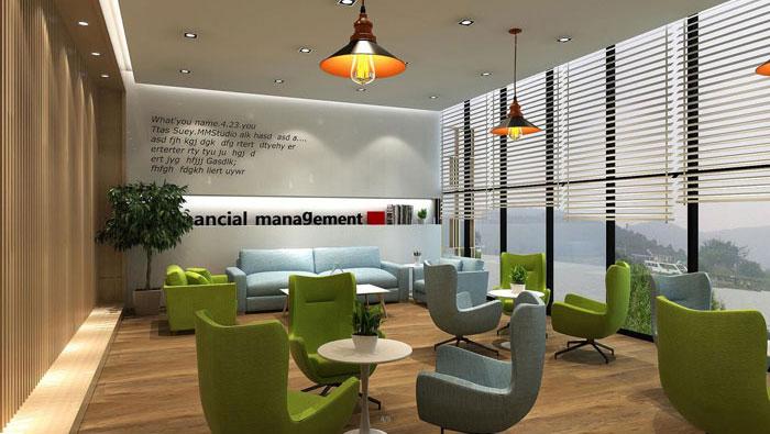 小型金融公司办公室装修设计效果图