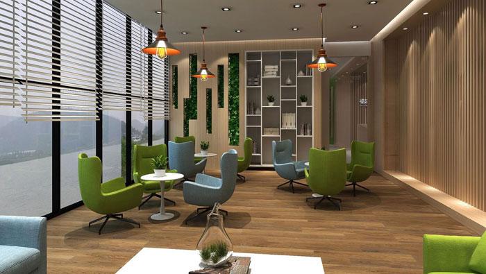 560平方中型办公室装修设计案例