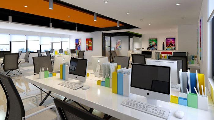 400平方教育行业办公室装修设计案例