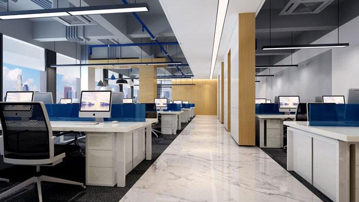 510平方现代简约办公室装修设计案例
