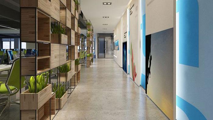 1050平方时尚创意办公室装修设计案例