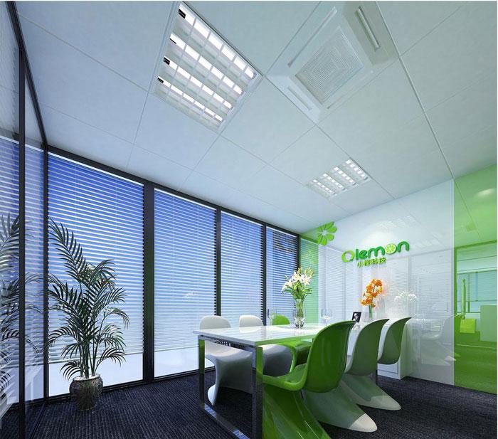 科技公司办公室洽谈室软装设计效果图
