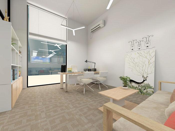 350平方APP设计公司总经理办公室软装设计方案效果图
