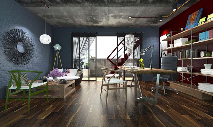 200平方LOFT风格办公室装修设计案例