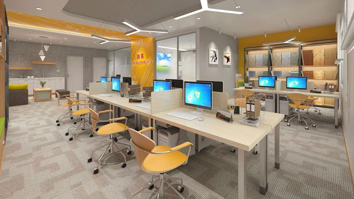 420平方装修公司办公室软装设计方案