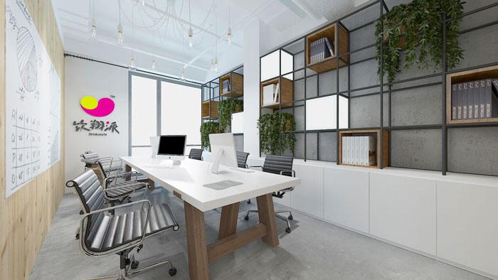 450平方电子商务办公室会议室软装设计效果图