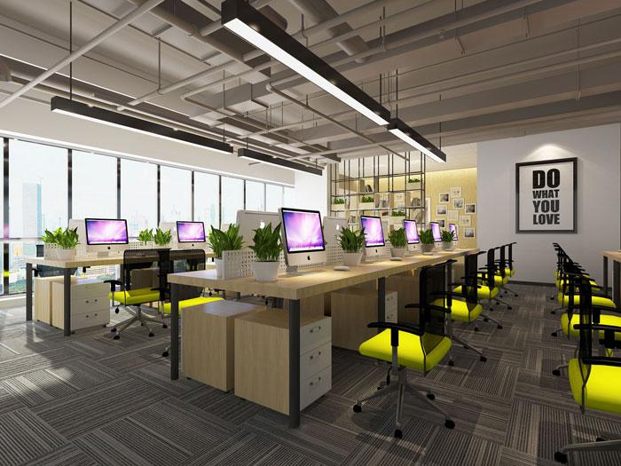 600平方乳业公司办公室办公区域软装设计效果图