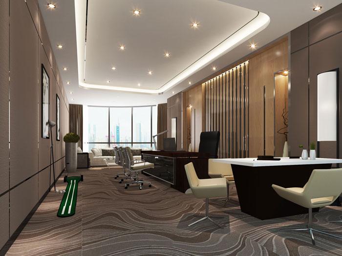 600平方乳业公司总经理办公室软装设计效果图