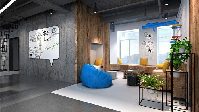 1286平方科技公司办公室软装设计方案