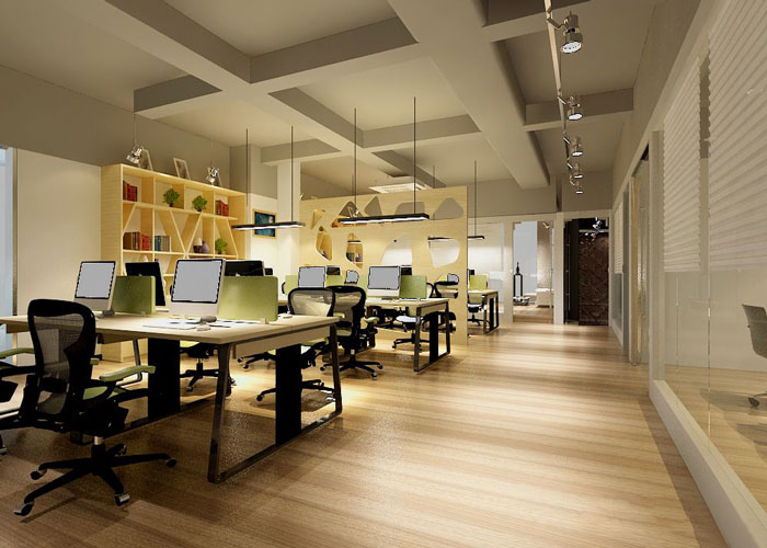 280平方金融公司办公室软装设计方案