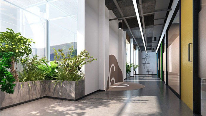 1260平方时尚创意办公室装修设计案例