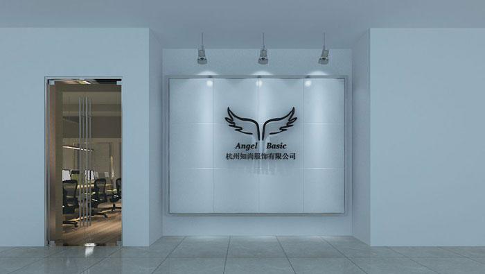 280平方服装公司办公室进门区域设计效果图