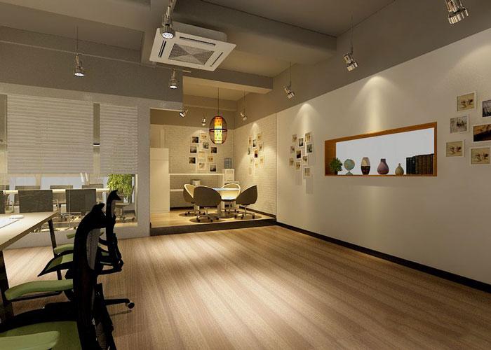 280平方服装公司办公室接待区域设计效果图