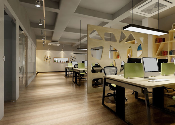 280平方服装公司办公室动线设计效果图