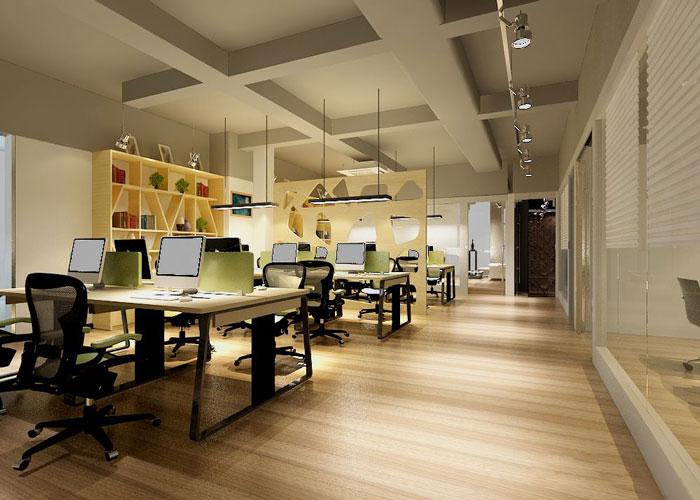 280平方服装公司办公室办公区域设计效果图