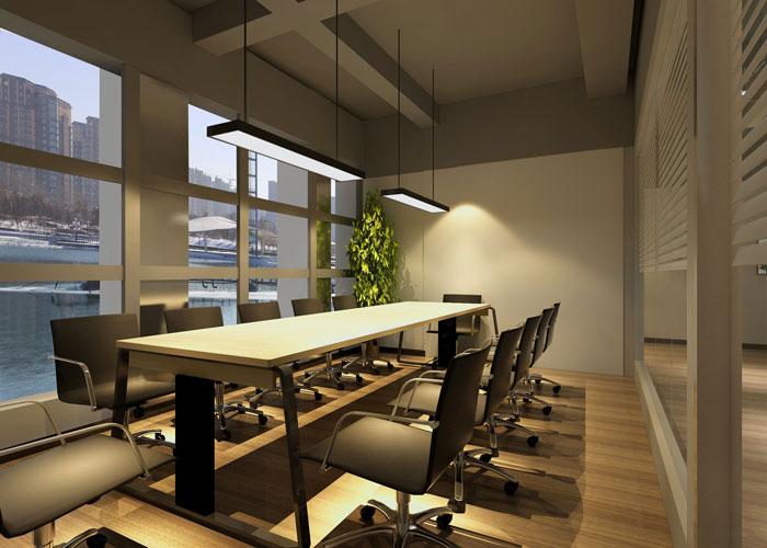 280平方服装公司办公室会议室设计效果图