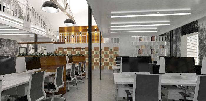 1000平方办公室办公区域软装设计方案效果图