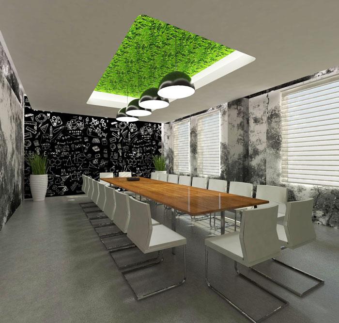 1000平方办公室会议室软装设计方案效果图
