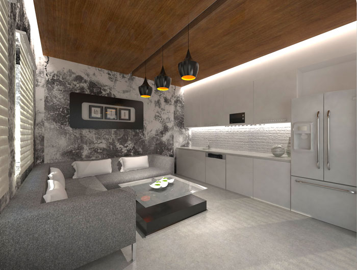 1000平方办公室茶水间软装设计方案效果图