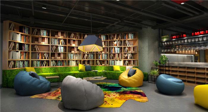1450平方办公室休息区域软装设计方案效果图