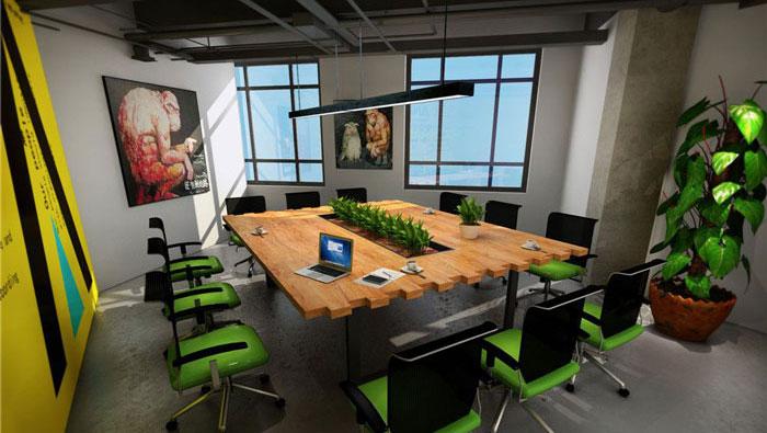 1300平方loft风格办公室装修设计案例