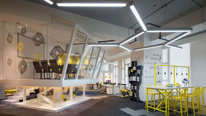 605平方中型办公室装修设计案例