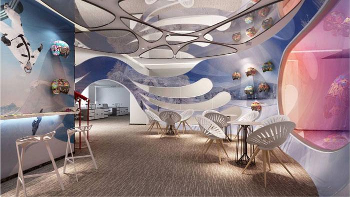 800平方现代简约办公室装修设计案例