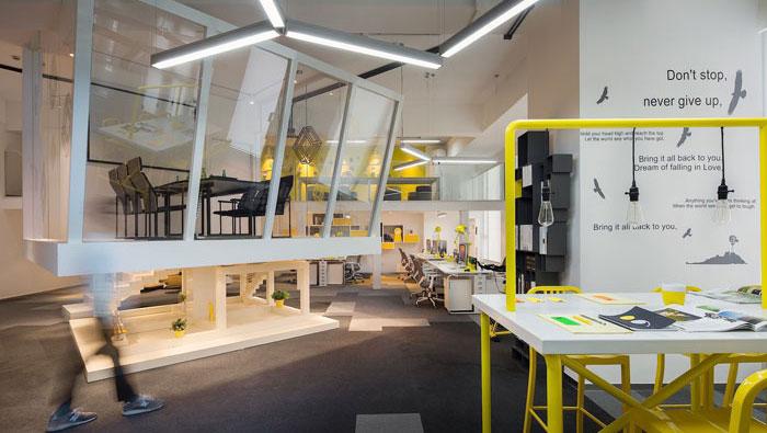 600平方loft风格办公室装修设计案例