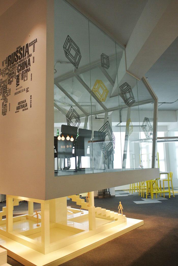 600平方loft风格办公室展示区域装修设计案例效果图