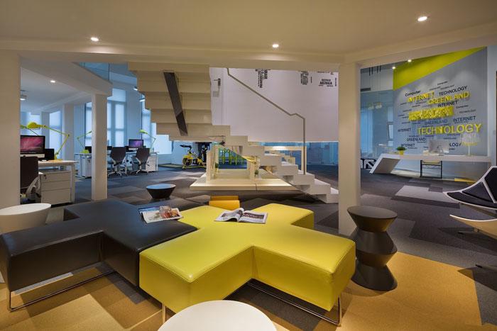 610平方办公室接待区域软装设计方案效果图