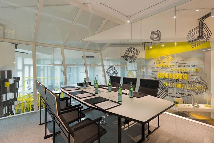 610平方办公室会议室软装设计方案效果图