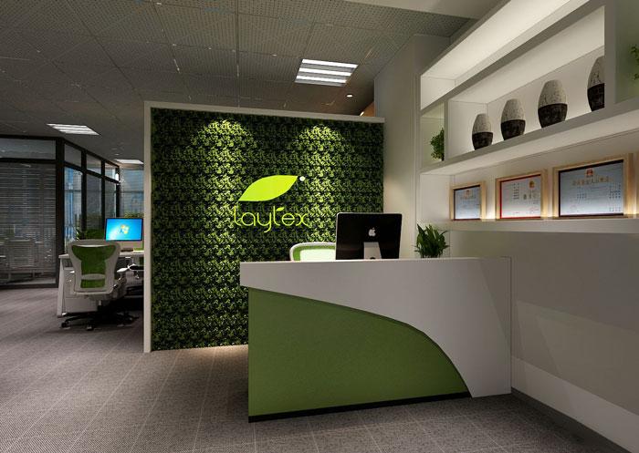100平方办公室前台软装设计方案效果图